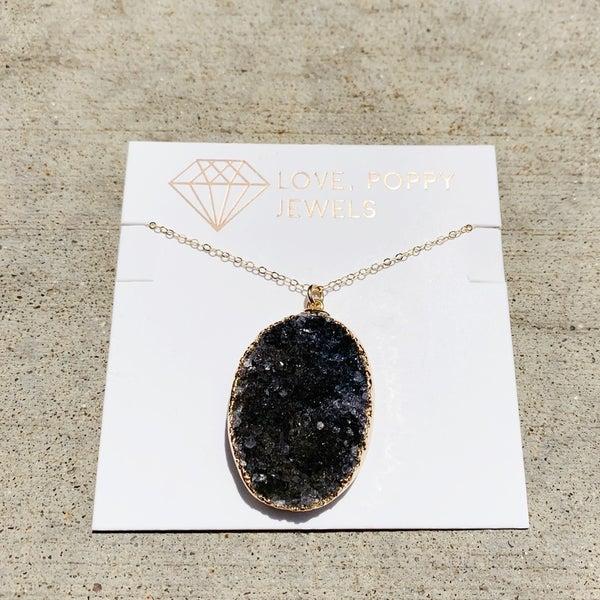 Druzy Beauty Oval Necklace