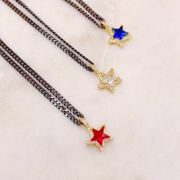 Melania Clara Night Wish Star Necklace - 3 Colors!