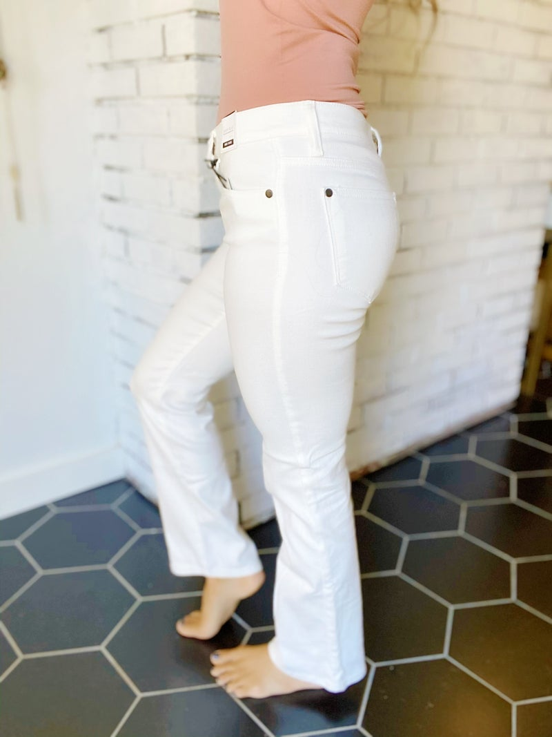 Judy Blue White Bootcut Jeans