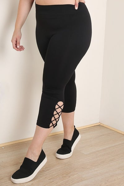 SIDE CRISS CROSS CAPRI LEGGING