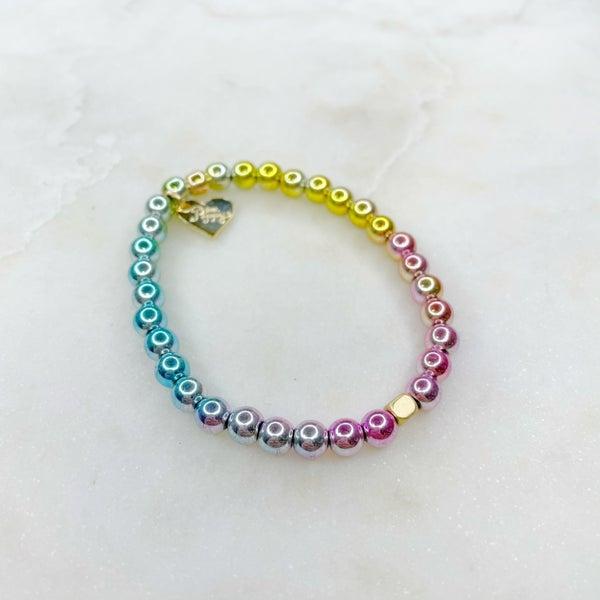 Love Poppy Rainbow Hematite Bracelet