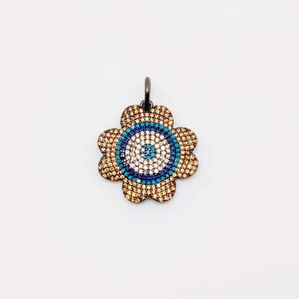 Blue & Bronze Flower - Charmed Collection