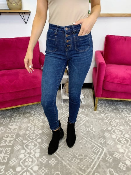 Judy Blue Back At You Skinny Jeans