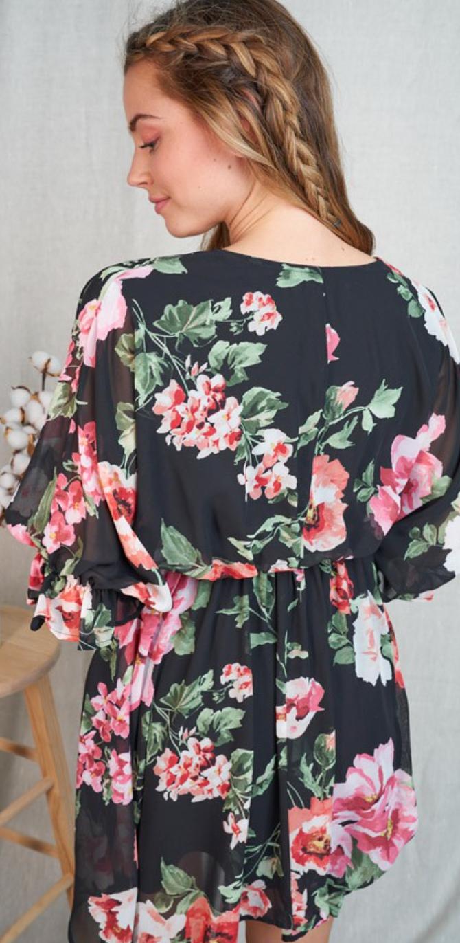 Poet Flow Floral Dress