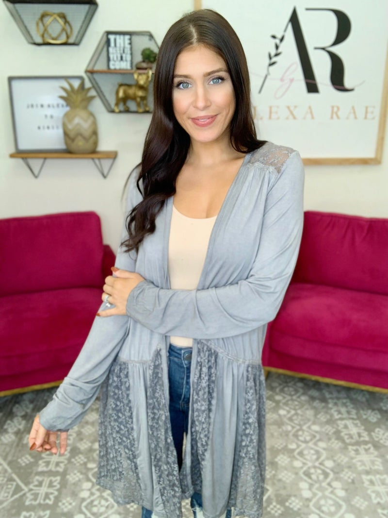 Always A Place For Lace Cardigan - 3 Colors!