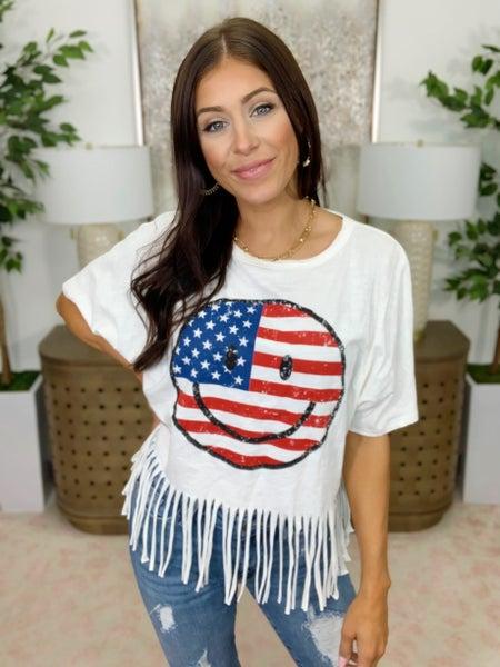 American Smiley Top