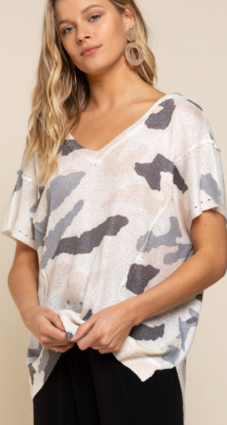 Make Room For Camo Top - 2 Colors!