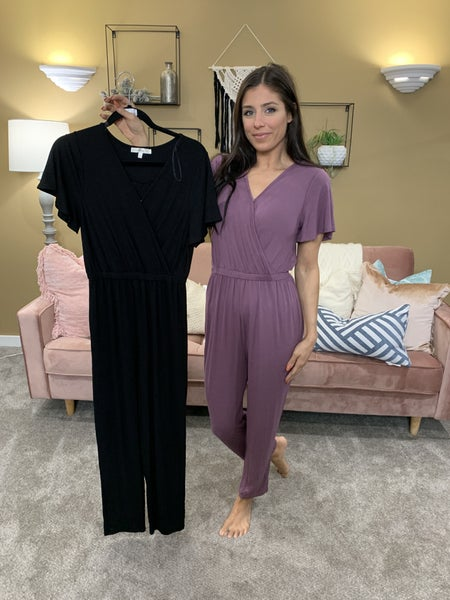 All Eyes On Me Jumpsuit - 2 Colors!
