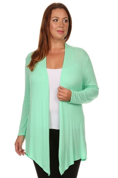 LIGHT WEIGHT CARDI (MINT)- PLUS ONLY