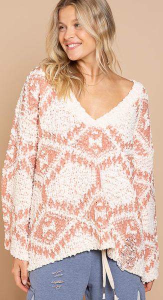 Aztec Groove Sweater - 2 Colors!