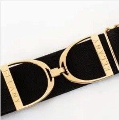 "Black 2"" Stirrup Elastic Belt- 2 Colors!"