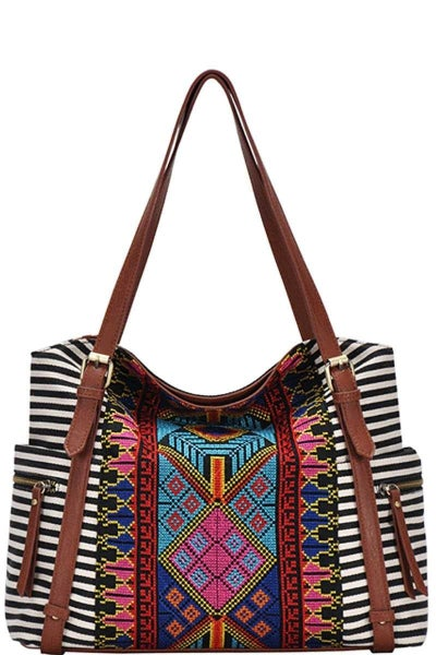 AZTEC STRIPED CHIC BAG