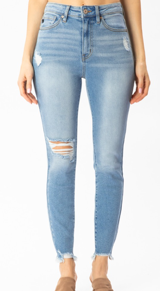 Kancan Cutie With A Booty High Rise Skinny Jean - Light Wash