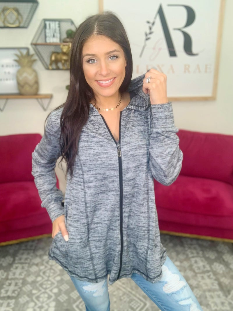 The Megan Hooded Jacket - 2 Colors!