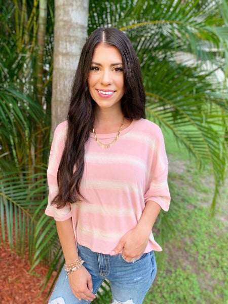 Lightly Striped Top