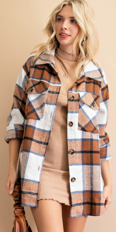 Plaid Is In The Mix Shacket