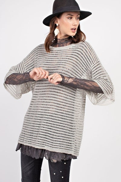 EFFORTLESS SLOUCHY SHEER SWEATER TUNIC