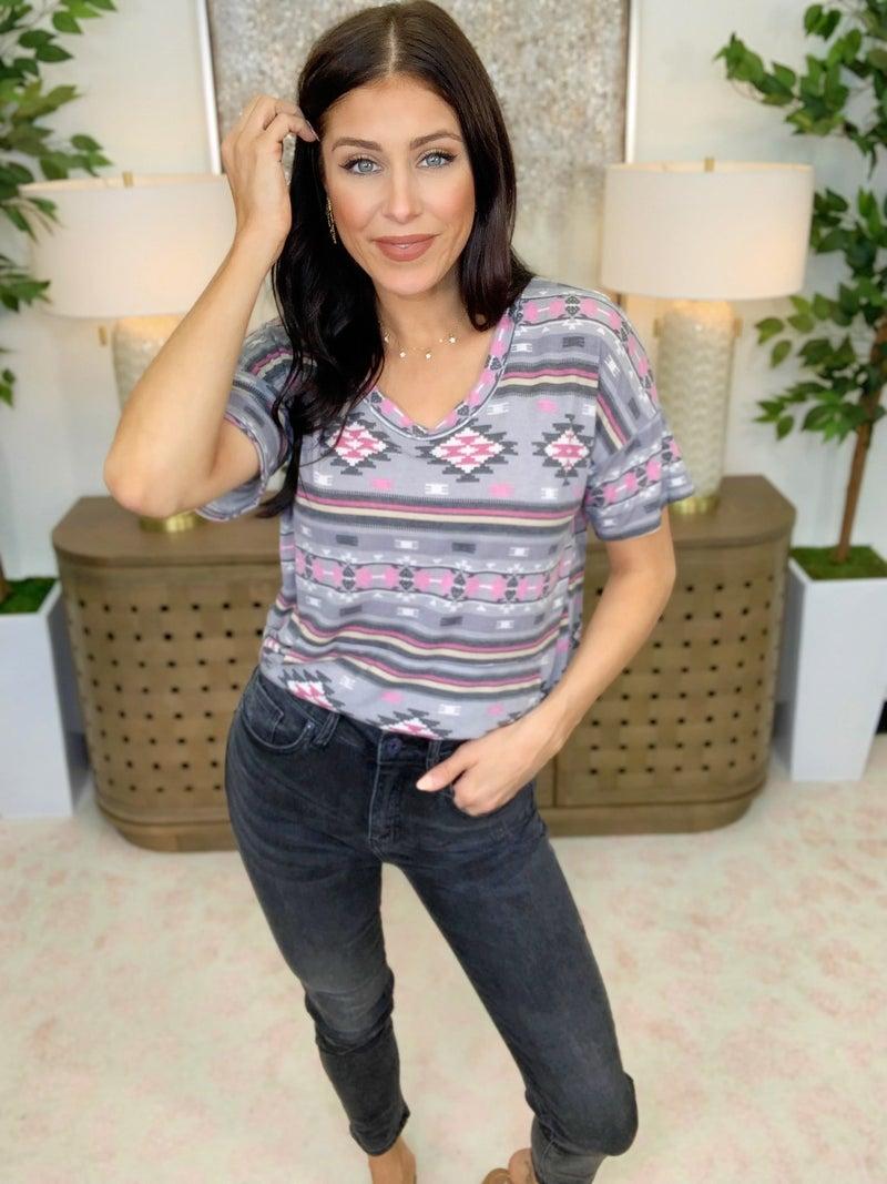 Risen June High Waisted Grey Jeans