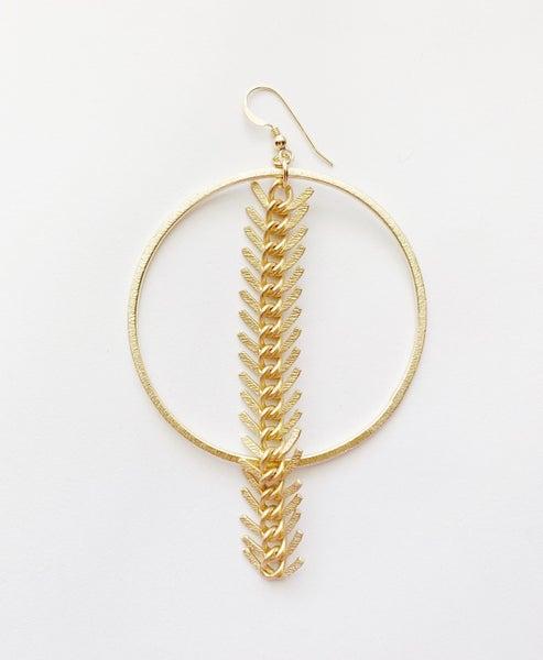 Fishbone Earring