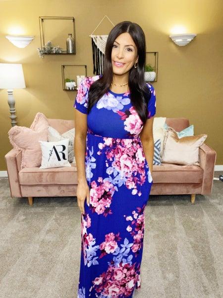 Spring Flowers Maxi Dress