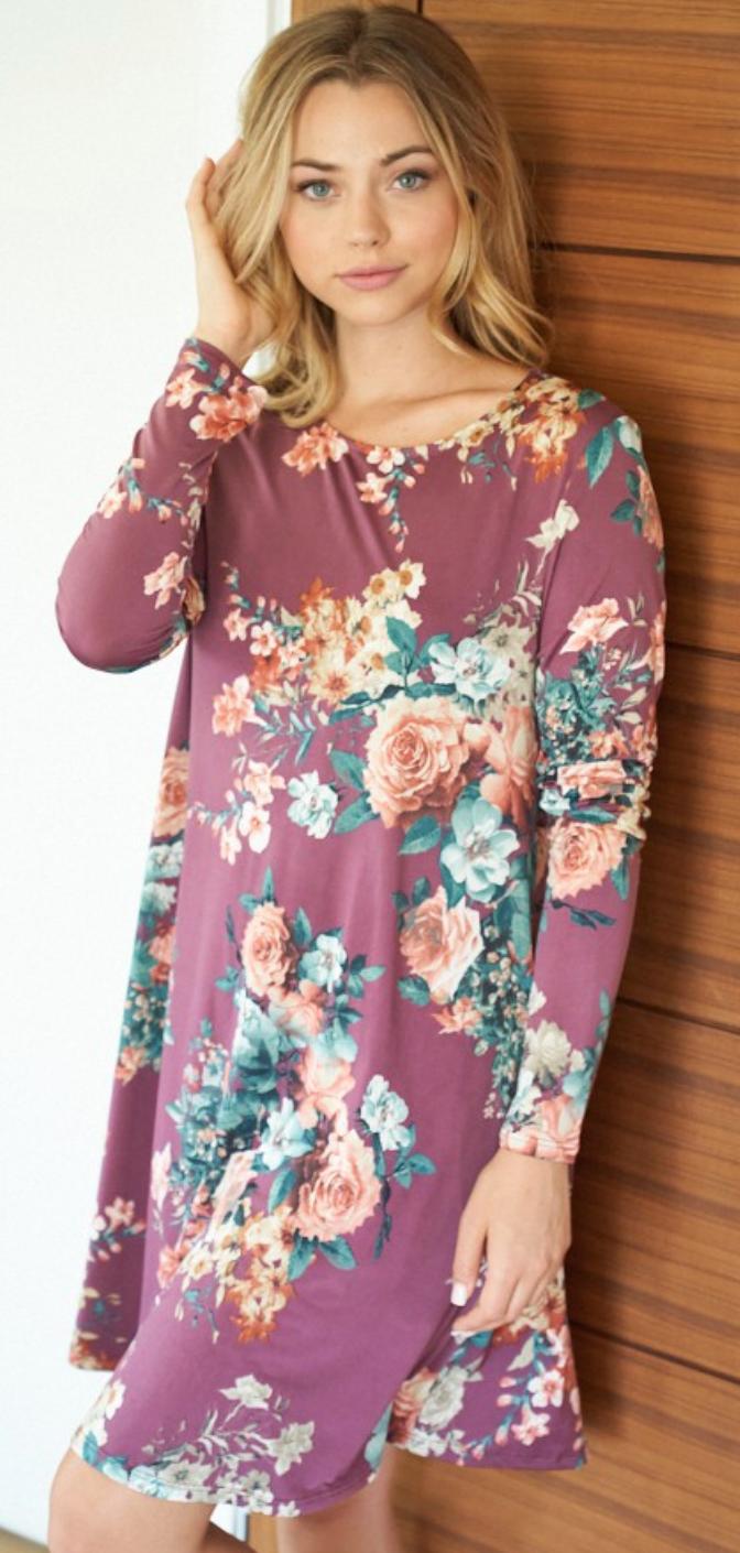 Cypress Gardens Floral Dress - 2 Colors!