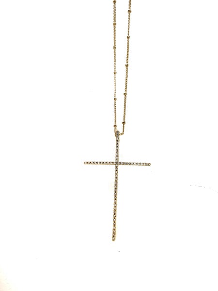 Hila Extra Large Cross Necklace - Gold