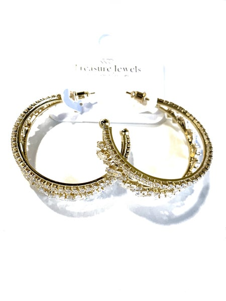 Treasure Jewels Everly Hoops