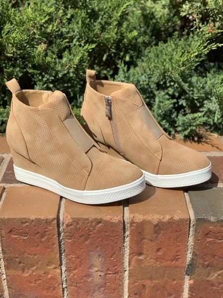 Made For Walkin' Wedge Sneaker - Camel