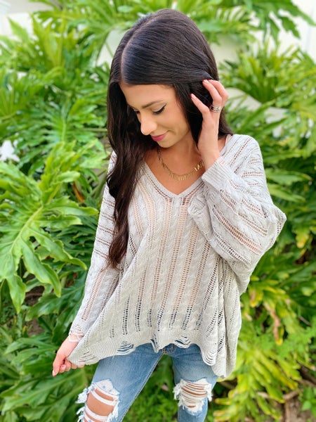 Having A Knit Fit Sweater - 3 Colors!