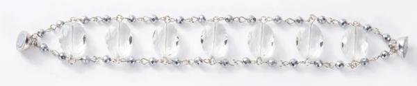 Melania Clara Luz Bracelet Silver - Clear