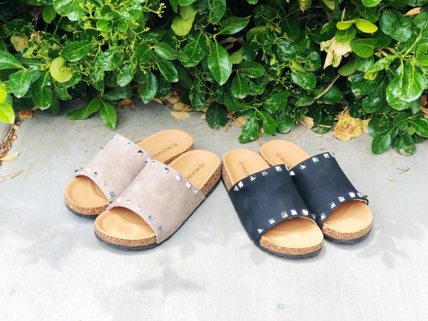 Tell Me About It Stud Slide Sandals