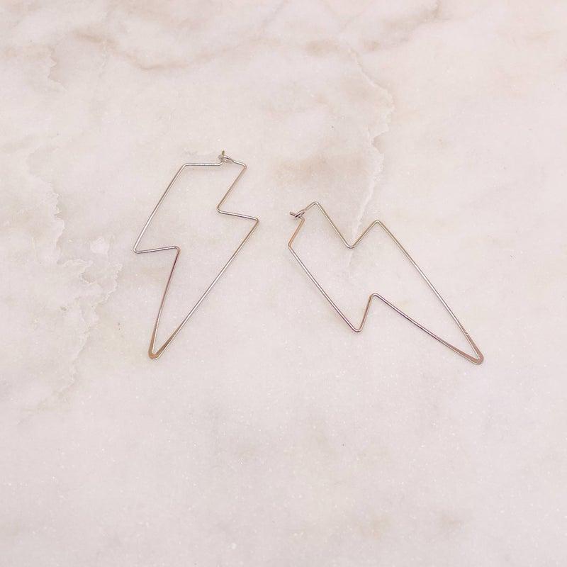 It's Electric Lightning Bolt Earring - Silver