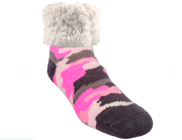 Pudu Pink Camp Slipper Socks