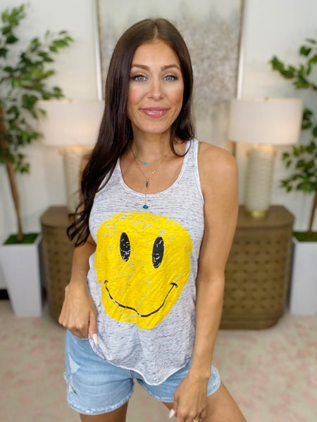 Smiley Face Tank - 3 Colors!