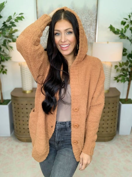 She's Got You Covered Hooded Cardigan - 2 Colors!