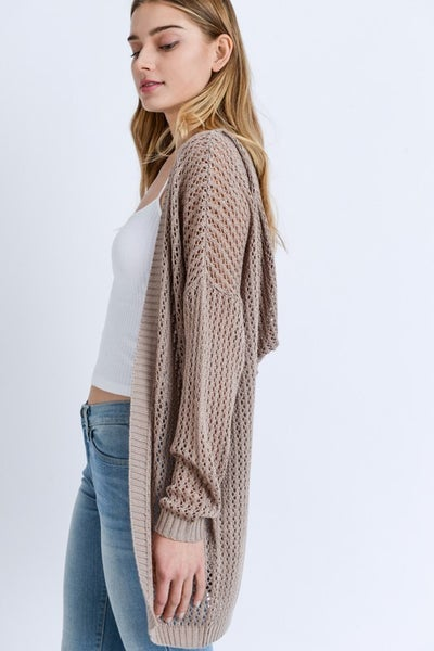 Woven Dreams Loose Knit Cardigan