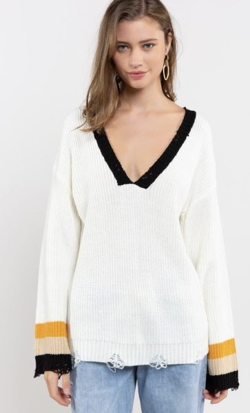 POL Stay Sexy V-Neck Sweater