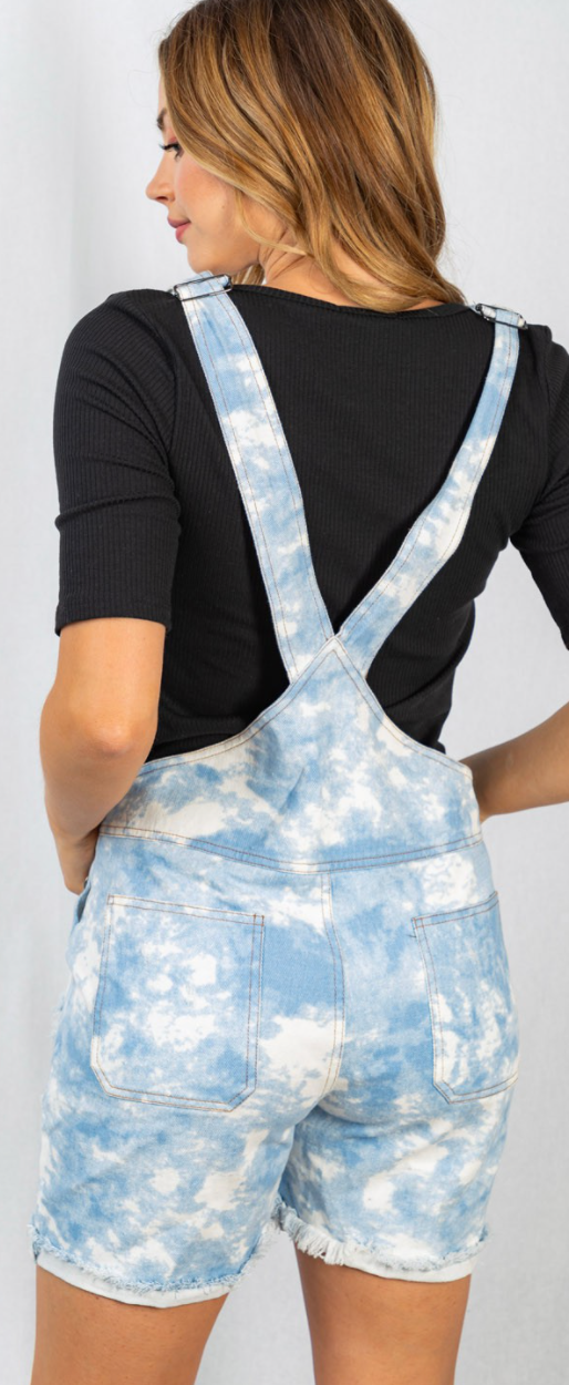 Clouds Of Fall Denim Overalls