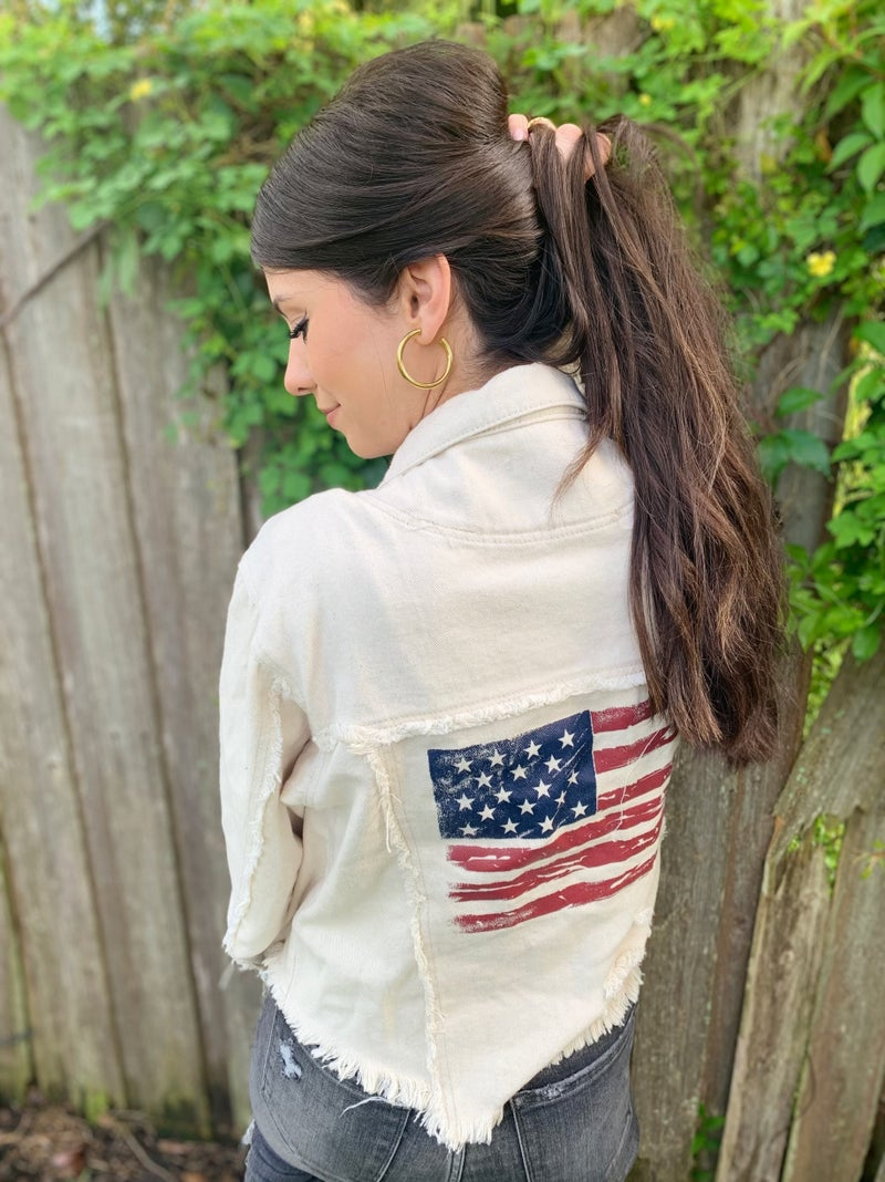 May Freedom Forever Fly Denim Jacket- 3 Colors!