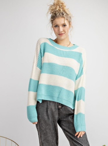 Rugby Union Striped Sweater - Teal