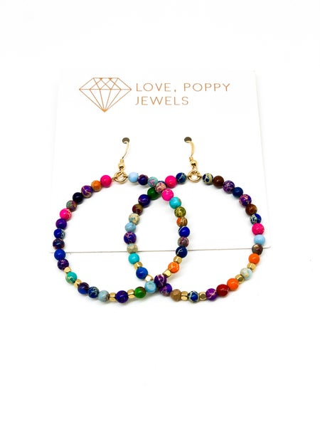 Beaded Beauty Hoop Earrings