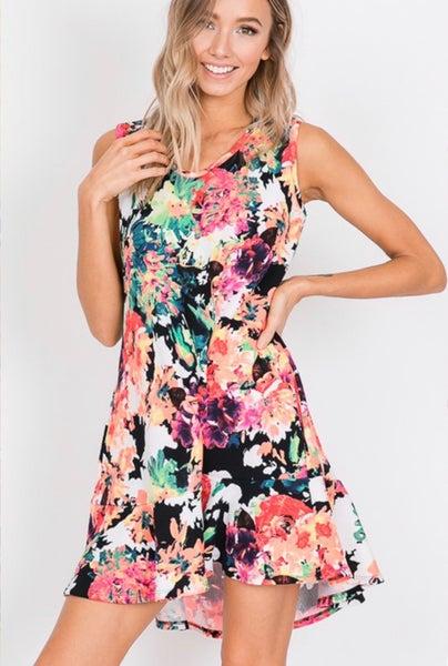 Electric Floral Dress