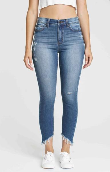 Clara On Thin Ice High Rise SKinny Crop Jeans