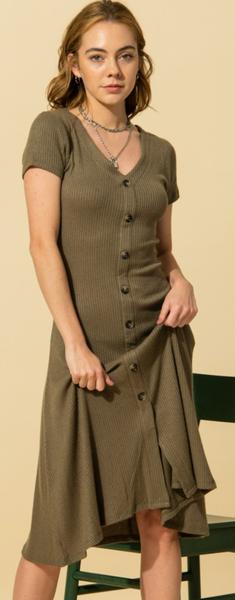 Movin' And Groovin' Midi Dress