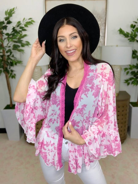 Sprouts Of Floral Cardigan