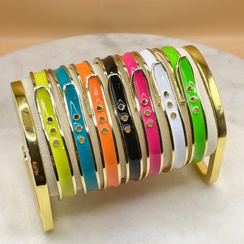 Melania Clara Kenny Bracelet Gold - 7 Colors!