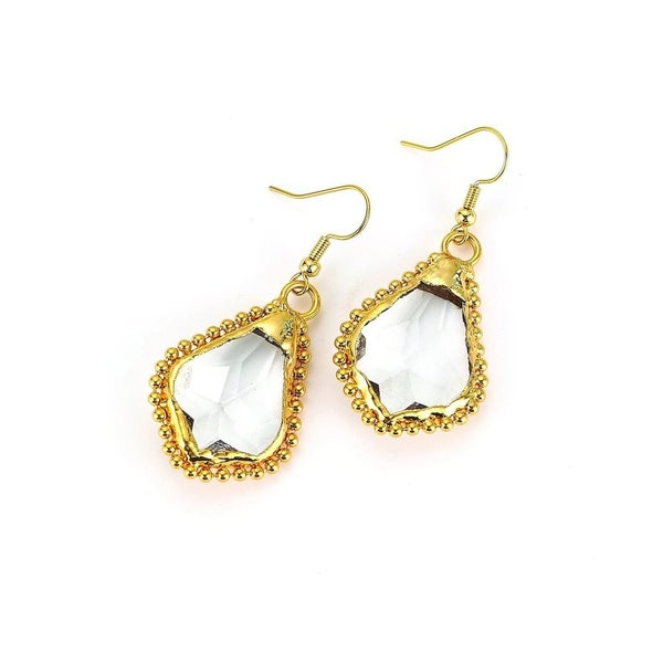 Melania Clara Lupe Earrings - Gold