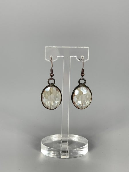 Antique Hand Soldered Crystal Earrings- Champ