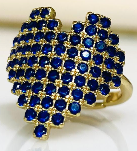 Melania Clara Modern Love Ring Gold - 3 Colors!