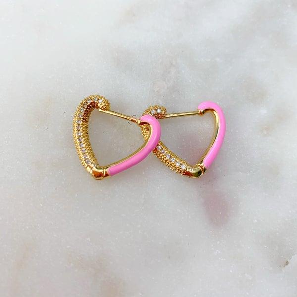 Love Poppy Sweetie Pie Huggie Earrings